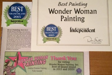 Thank You for voting Wonder Woman Painting, Inc. BEST of Grand Island 2015!!!!