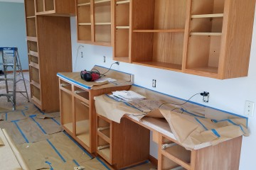 Prepping kitchen cabinets