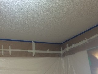Getting ready to remove that non appealing (popcorn ceiling)